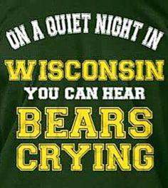I hear Bears crying! Informations About I hear Bears crying! Pin You… Packers Vs Bears, Packers Baby, Go Packers, Packers Football, Wilson Football, Vikings Football, Giants Baseball, Football Baby, Nfl Memes