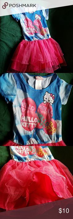 Hello Kitty Tshirt dress tu tu style 6 6x 6X Hello Kitty Tshirt dress tu tu style 6 6x 6X . Very good condition due to small tear on one part of tulle. Not noticeable. Only washed in fragrance free detergent and comes from a smoke free and pet free home. Check out my other kids clothes to bundle and save 20%! Hello Kitty Dresses Casual