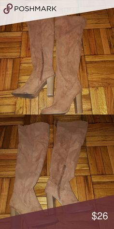 OVER THE KNEE BOOTS Over the knee boots / Size 8.5  Great fit. Great look. Charlotte Russe Shoes Over the Knee Boots