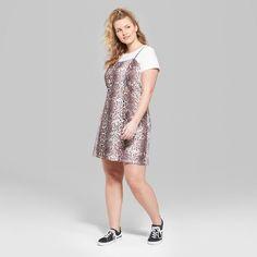 8f078b74a61 Women s Floral Print Scoop Neck Knit Tank Dress - Wild Fable Gold Xxl