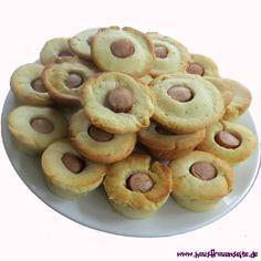 Hot-Dog-Muffins Rezept für Hot-Dog-Muffins - wundervolles Fußball Fingerfood - bei uns heißen sie Muffin-Dogs