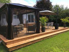 backyard designs – Gardening Ideas, Tips & Techniques Hot Tub Patio, Gazebo On Deck, Patio Plans, Backyard Patio Designs, Outside Living, Home Landscaping, Backyard Makeover, Outdoor Rooms, Exterior