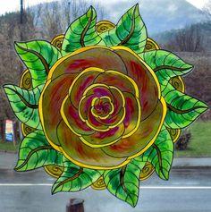 noel christmas blanc etoile wicoart window color sticker static cling stained glass mandala fleur rose art - Windows Color Noel