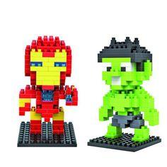 BOHS Hulk & Ironman 2pcs/lot  Diamond Blocks Toy Building Blocks Sets Educational Bricks Toys #Affiliate