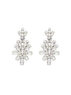 Swarovski Crystal Navette Drop Earrings- Oscar de la Renta