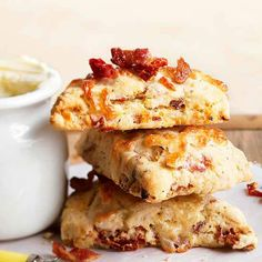 Bacon is best at breakfast! And these Bacon and Dried-Tomato Scones are a great recipe for a savory treat: http://www.bhg.com/recipes/pork/ham/bacon-recipes/?socsrc=bhgpin070914baconanddriedtomatoscones&page=2