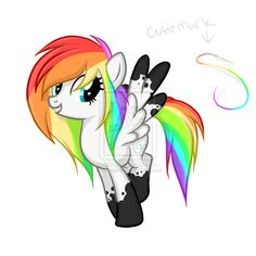 This is me. My name is Splatter swirl. Rainbow Dash is my big sister. I love the same things as her and I'm the team captain on my soccer team The Rainbow Bolts.
