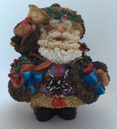 Crinkle Claus ENGLISH Santa Present Possible Dreams England Christmas Figurine