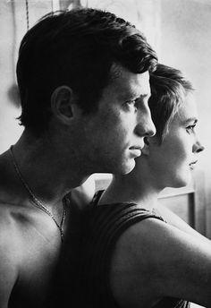 Jean Seberg & Jean-Paul Belmondo - À bout de souffle (Jean-Luc Godard, 1960)