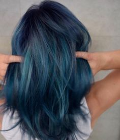Pin for Later: 50 Dreamy Rainbow Balayage Ideas to Inspire Your Next Dye Job - ✧ Hair ✧ - Hair Color Ombre Hair Color, Hair Color Balayage, Cool Hair Color, Short Hair Colour, Short Blue Hair, Crazy Color Hair Dye, Pastel Hair Colour, Elumen Hair Color, Hair Goals Color