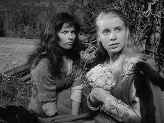 """Birgitta Pettersson and Gunnel Lindblom in """"The Virgin Spring"""" by Ingmar Bergman"""