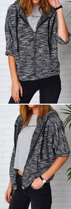 Big Hit, $24.99+free shipping! You and this top will be free for life! Designed in casual style and drawstring hooded design, this knitting top is perfect for outings. Don't miss it!