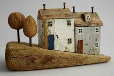 Little houses on a hill sculpture artwork