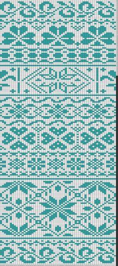 Tricksy Knitter Charts: Fair isle scarf by Fair Isle Knitting Patterns, Knitting Machine Patterns, Poncho Knitting Patterns, Mittens Pattern, Knitting Charts, Loom Knitting, Knitting Stitches, Knitting Designs, Knitting Tutorials