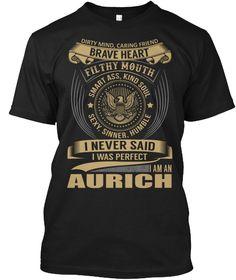 AURICH - I Never SaidIWas Perfect