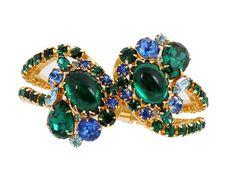 Alice Caviness Rhinestone Clamper Bracelet by EmbellishgirlVintage