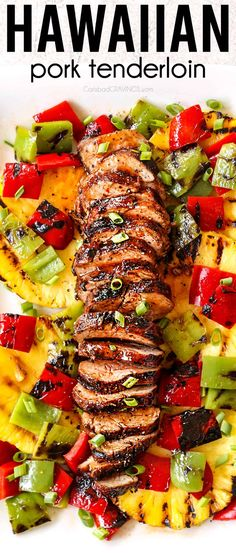 This Grilled Hawaiian Pork Tenderloin is simple to make, quick to cook and tantalizingly juicy, complete with a smoky, caramelized charred crust. Get ready to have your taste buds whisked away to the tropics! @nationalporkboard #pork #porkrecipes #porktenderloin #dinner #recipes #dinnerrecipes #dinnerideas #dinnertime #easydinner #easydinnerrecipes #marinade #hawaiianpork #pineapple Pork Tenderloin Marinade, Marinated Pork Tenderloins, Pork Tenderloin Recipes, Pork Chops, Recipes Using Pork, Grilling Recipes, Cooking Recipes, Carlsbad Cravings, Easy Dinner Recipes