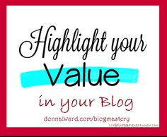 Think about your blog's value proposition. Got it? Just in case you need some help (I seem to always need it!) Here's a quick definition: Your Blog's Value Proposition is the specific benefits you ...