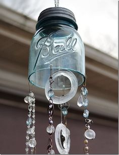 Mason Jar Wind Chime - Mason Jar Crafts Love
