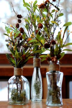 Vase Centerpiece Winter Pine Cone Vase Vase by QueenBeeWreath, $35.00