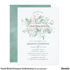 Shop Pastel Blush Greenery Geometric Bridal Shower Invitation created by partypeeps. Sip And See Invitations, Wedding Shower Invitations, Engagement Party Invitations, Zazzle Invitations, Wedding Mint Green, Wedding Coral, Geometric Wedding, Watercolor Wedding Invitations, Invitation Design
