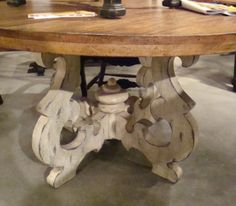 Tuscany-French-Country-54-Round-Dining-Table-Cambridge-White-Distressed