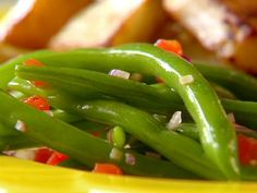 Garlic Green Bean Salad recipe from Sunny Anderson via Food Network