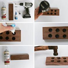 schöne Messerleiste aus Holz einfach selber machen
