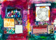 Art Journaling101 - abstract - create explore paint. Great site for learning art journaling!