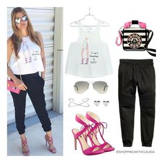 @claudiafashions Friday style! Find this look in:  Top: shoppingwithclaudia.com Pants: hm.com Shoes: guess.com Bag: betseyjohnson.com Sunglasses: rayban.com Jewelry: target.com #shoppingwithclaudia #claudiazuleta #fashionstylist #shopping #personalshopping #celebritystyle  #streetstyle #outfit #look #styletips#amazing #love #styletipsbyclaudia #fashion #fashionable #lookoftheday #trends #winter #fashionstyle