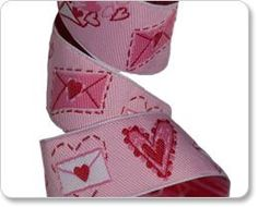 Love Letter Embroidered Ribbon $4.95 /yard