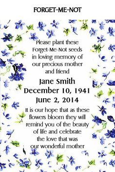 Personalized Memorial Keepsake Remembrance by Partyfavorsforall