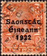 Postage Stamps of Eire Ireland 1922 SG 53 George V Overprint Fine Used Scott 45 Other Irish Stamps HERE