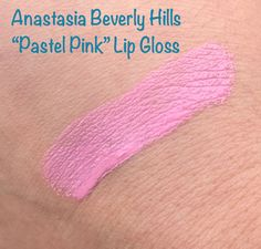 Anastasia Beverly Hills Pastel Pink Lip Gloss Swatch - Cruelty Free Makeup for Pantone's Color of the Year 2016 | My Beauty Bunny