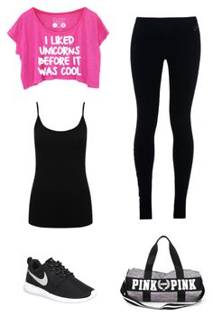 """Gym Outfit"" by mitchieanne21 on Polyvore featuring M&Co and NIKE"
