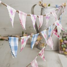 Vintage style mini bunting - product images