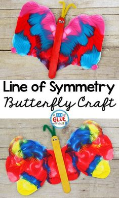 This Line of Symmetry Butterfly Craft is a fun process art activity and will be a great addition to your butterfly unit this year.