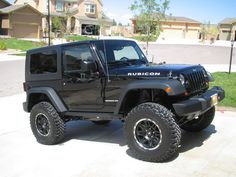 "2door jeep wranglers 35s with 4 inch lift | pics of 35"" tires on 4"" lift? - JeepForum.com.   Love"