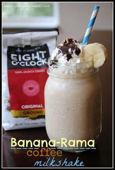 Banana-Rama Coffee Milkshake @shugarysweets