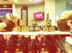 scented candles in metal tins with vintage prints at the hersheys shop ! love !