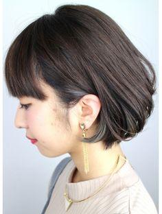 ジャコ ヘアー(jako HAIR) (jako)インナーカラー Winter Hairstyles, Short Bob Hairstyles, Shot Hair Styles, Hair Patterns, Medium Short Hair, Hair Dos, Dyed Hair, Korean Fashion, Women's Fashion