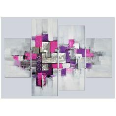 toiles peintures abstrait fushia gris - Recherche Google