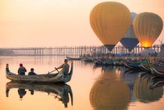 Sunrise at U Bein Bridge special for Balloon from Bagan by. air sky landscape sunrise sunset people boat river travel cross sun old outdoor tourism tourist arch Cambodia Beaches, Cambodia Travel, Travel Tours, Travel Deals, Online Travel Agent, Inle Lake, Sky Landscape, Yangon, Day Tours
