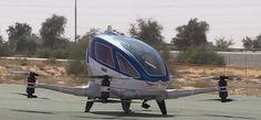 En Julio próximo drones autónomos para transportar un pasajero comenzarán a volar en Dubai
