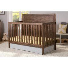 $229.98 - Walmart - Delta Children Cambridge 4-in-1 Convertible Crib - Rustic Oak