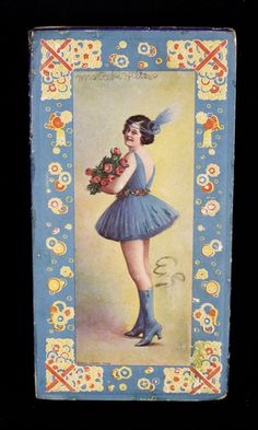 Antique 1921 Embossed Art Deco Pin Up Candy Box Early Jazz Age Flapper Girl L K | eBay