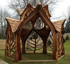 Gorgeous Gazebo (photo only) ~ Tree design as walls of shelter house?