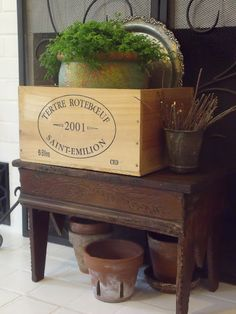 Fox Hollow Cottage: Home, Decor DIY with Number Fifty-Three Decoration Piece, Container Flowers, Wooden Case, Wood Crates, Shabby Vintage, Furniture Arrangement, Cottage Style, Creative Inspiration, Home Projects