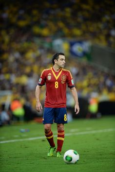 Xavi of Spain during the FIFA Confederations Cup Brazil 2013 Final match between Brazil and Spain at Maracana on June 30, 2013 in Rio de Janeiro, Brazil.