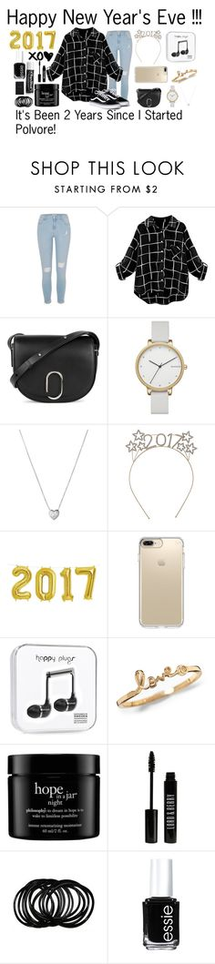 """""""Happy New Year's Eve !!!! 2 Year Anniversary Since I Joined !"""" by jasloves5sos ❤ liked on Polyvore featuring River Island, 3.1 Phillip Lim, Skagen, Links of London, Speck, Yves Saint Laurent, philosophy, Lord & Berry, Essie and Chapstick"""